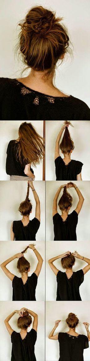 Back To School Hairstyles : Wil je in plaats van een strakke knot een keer een zomerse losse knot? Doe dat d