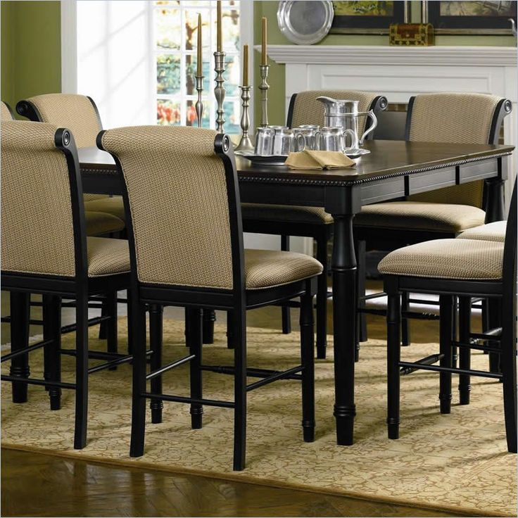 coaster cabrillo counter height dining table in deep black