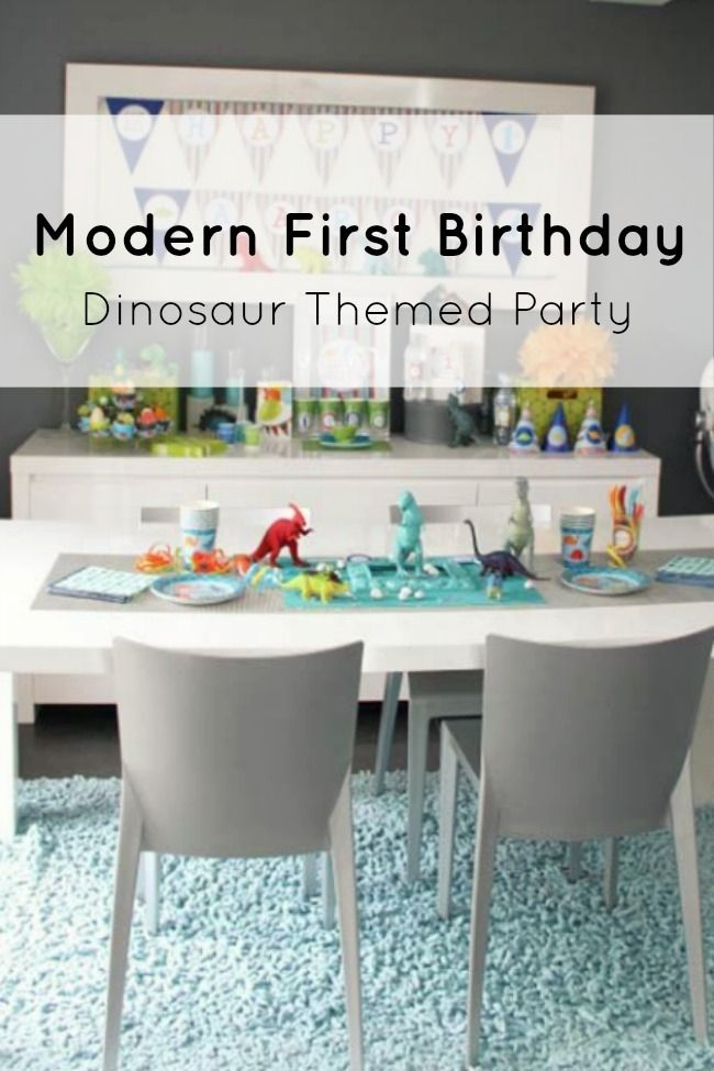 Dinosaur First Birthday Party - this one is gorgeous!