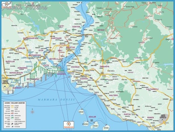 Istanbul Map - http://travelsfinders.com/istanbul-map.html