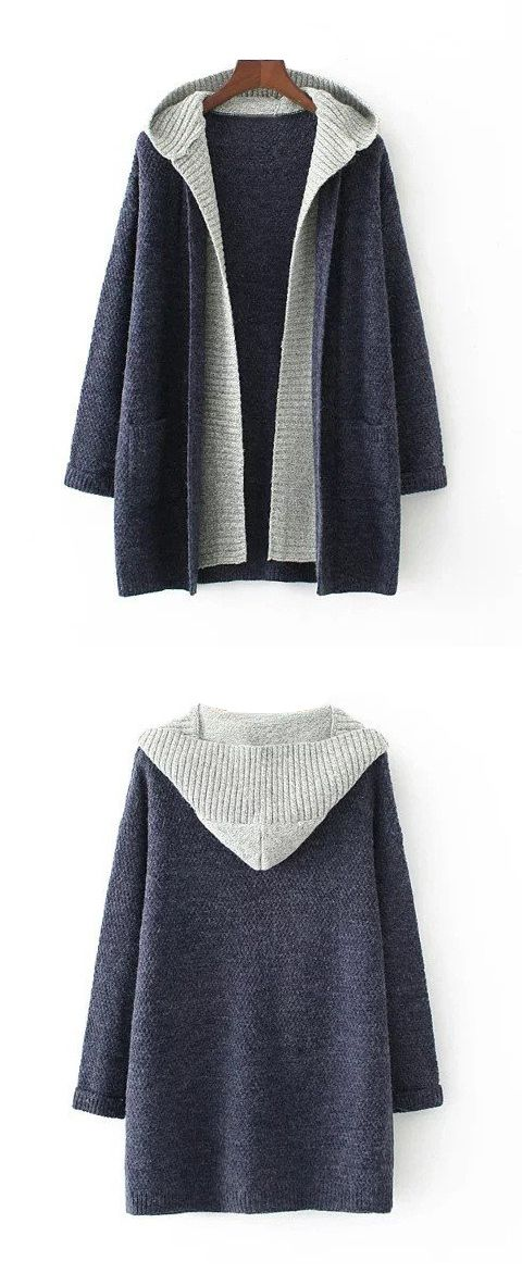 Female two-pieces long sleeves hoodies sweater with two Pockets,thread cuffs and bottom edges & large hat collar,looks so warm,very suitable for this fall/winter/spring;Now Free shipping worldwide! No minimum purchase! Easy Return.Search more fashion clothing at bellolla.com