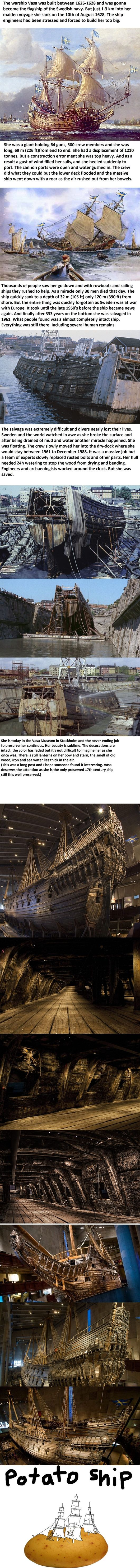 A post for us ship/history lovers out there.  This is the warship Vasa.