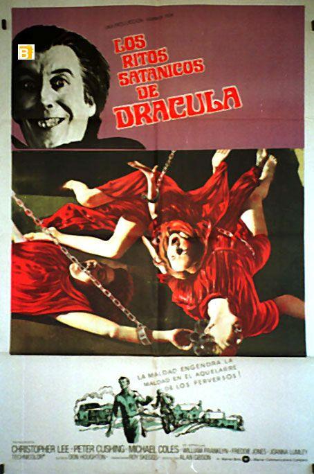 Los ritos satánicos de Drácula es una película de terror británica de 1973 con guion de Don Houghton, dirección de Alan Gibson y actuación de Christopher Lee, Peter Cushing, Michael Cole, William Franklyn y Freddie Jones