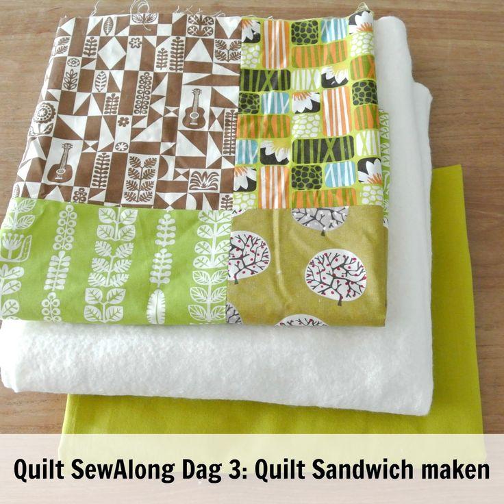 By MiekK: Easy Quilt SewAlong Dag 3: De QuiltSandwich Maken
