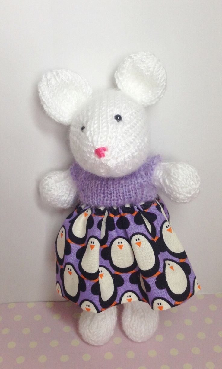 A personal favourite from my Etsy shop https://www.etsy.com/uk/listing/278815244/hand-knitted-mouse
