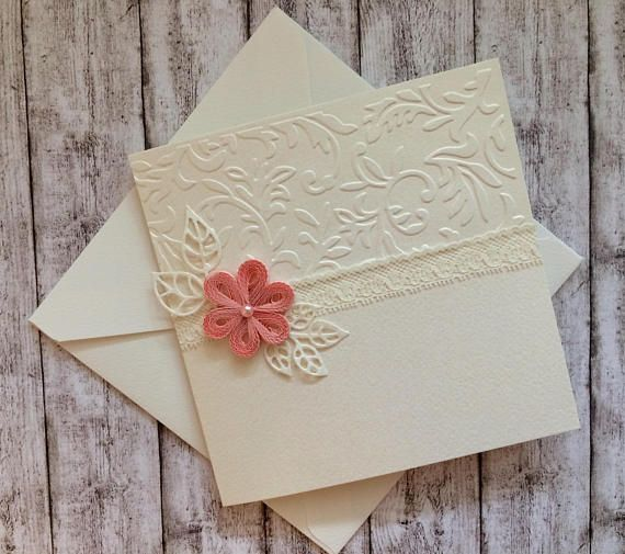 Handmade Wedding Invitations Quilling Flower