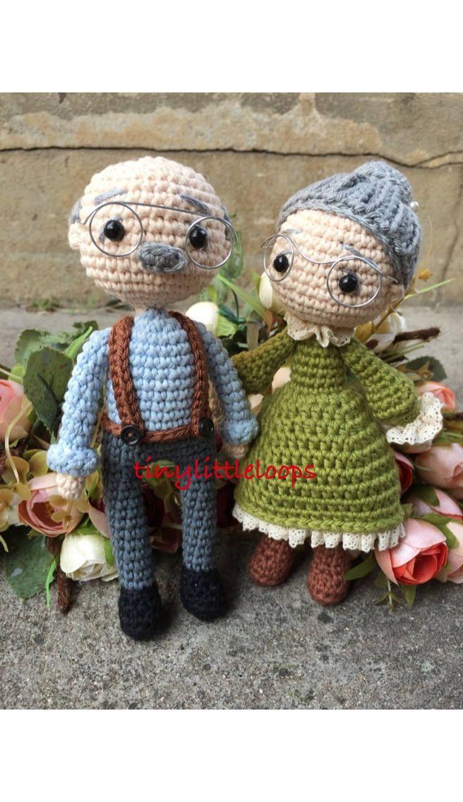 Grandpa Grandma crochet dolls, Bride and Groom Crochet doll, Wedding couple doll, Wedding crochet Amigurumi doll, wedding gift
