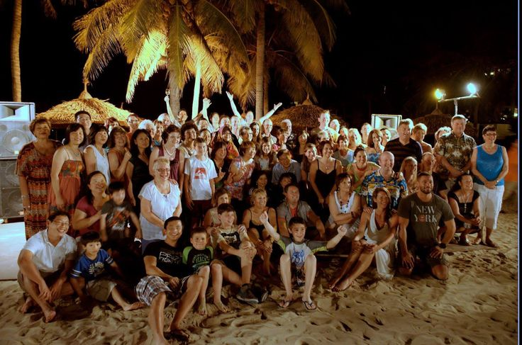 Last night in Vietnam we had a beach party. Great night!