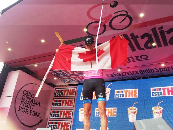 @Ryder_Hesjedal vince il #Giro d'Italia #sempreatutta  Ho capito di poter vincere a 5 km dal traguardo. E' stato un #Giro tremendo, molto duro, senza l'aiuto della #Garmin non sarei mai riuscito a scrivere questa pagina di storia.