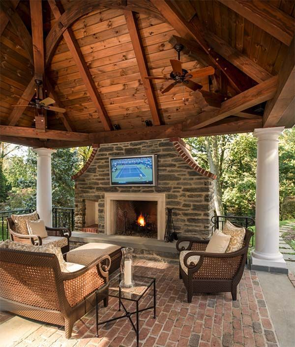 170 best patio/deck ideas images on pinterest | outdoor patios ... - Patio Ideas With Fireplace