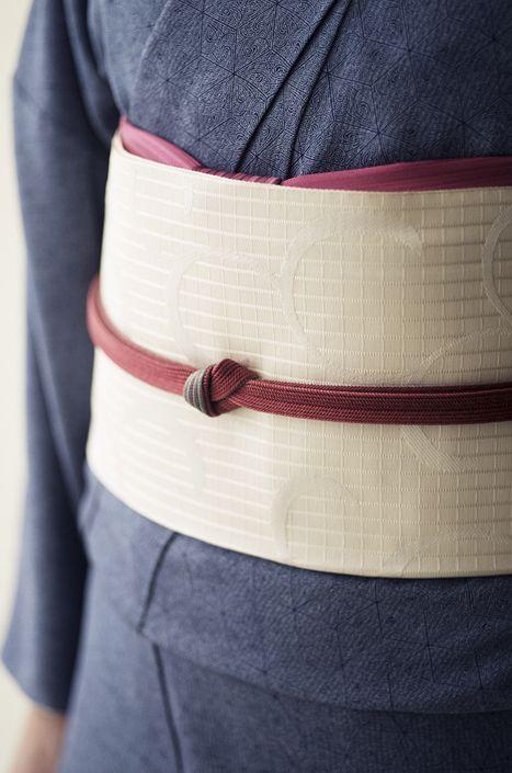 お洒落な普段着物、東京 六本木の帯,きものブランド awai 週末のお洒落着物/コーディネート   awaiの附下