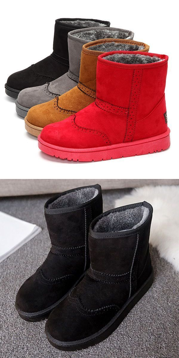 Winter Women Keep Warm Boots Suede Comfortable Casual Ankle Short Snow 4 Less Best Fashion Woman