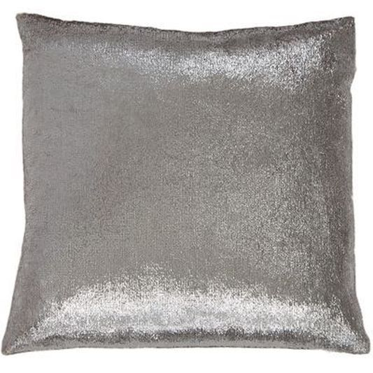 Silver Shimmer Metallic Cushion | Graham & Brown UK