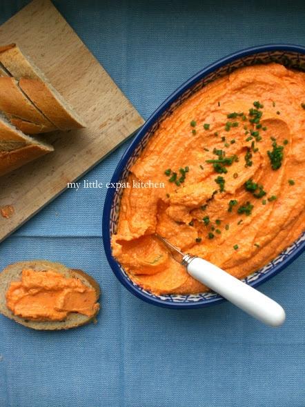 Tyrokafteri Kokkini - Greek Feta and Sweet Red Pepper Spicy & Hot Dip