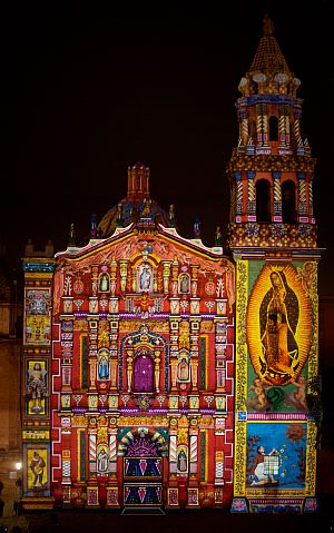 Festival of Lights, Cathedral of San Luis Potosí, Mexico