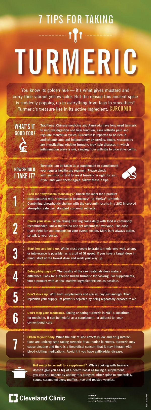 7 Tips for Taking Turmeric (Infographic)