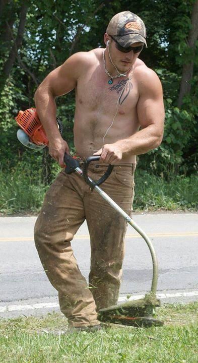 Pin on men mowing lawn lawnmowers lawn mower