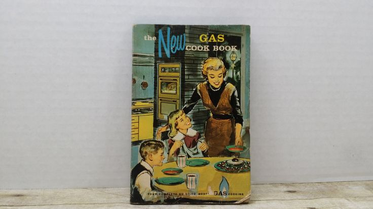 The New Gas Cookbook, 1961, Wisconsin Southern Gas Company, vintage cook book, Mid Century cook book by RandomGoodsBookRoom on Etsy