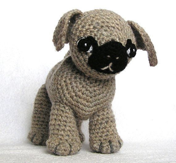 PDF Crochet Pattern A PUG Named Ted