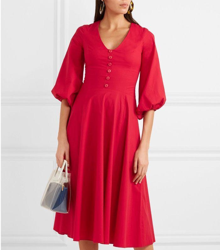 Can You Wear Red To A Wedding Poplin Dress Fashion Stretch Cotton