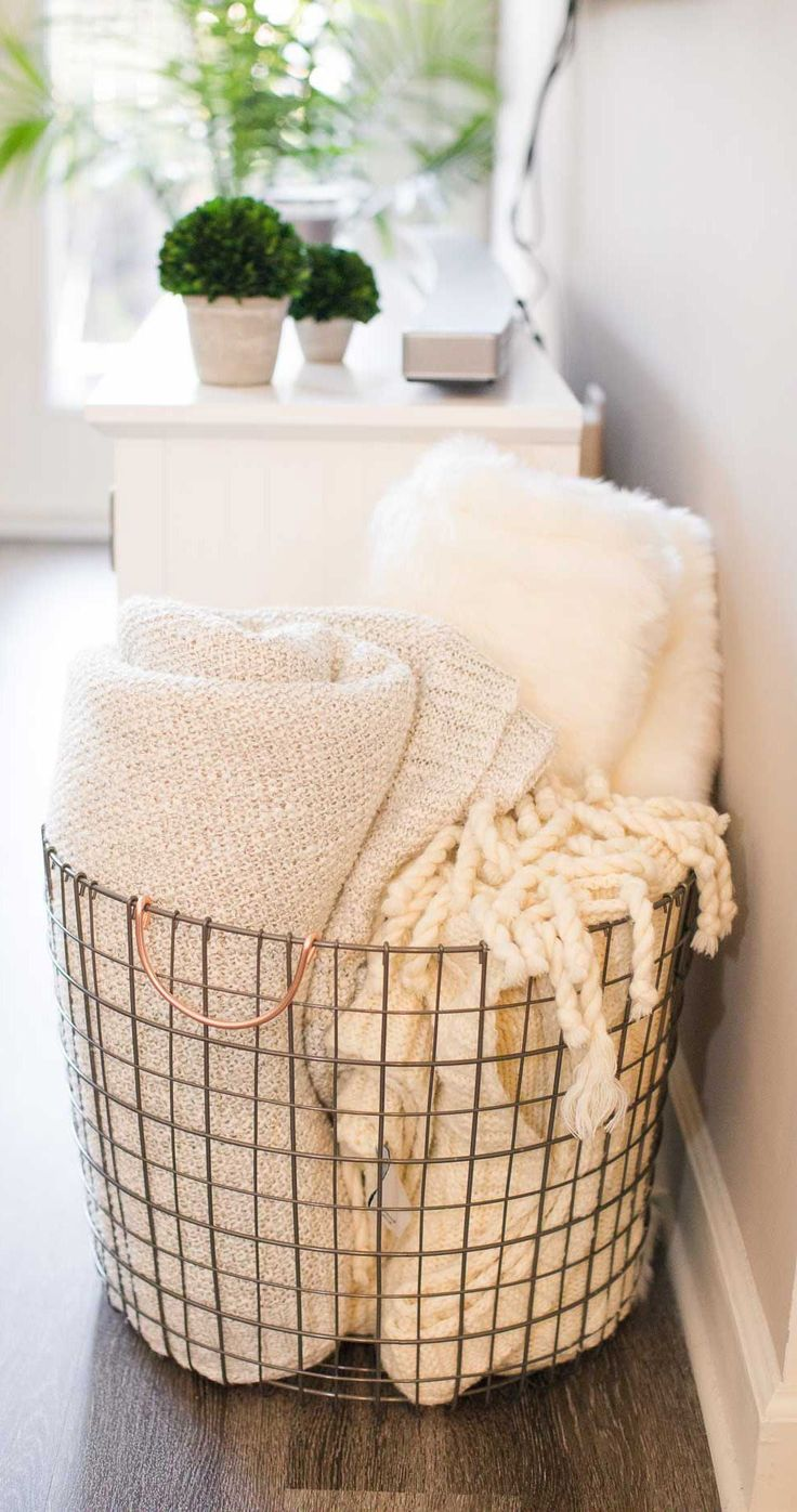 17 best ideas about luxury apartments on pinterest blanket ladder with wire baskets