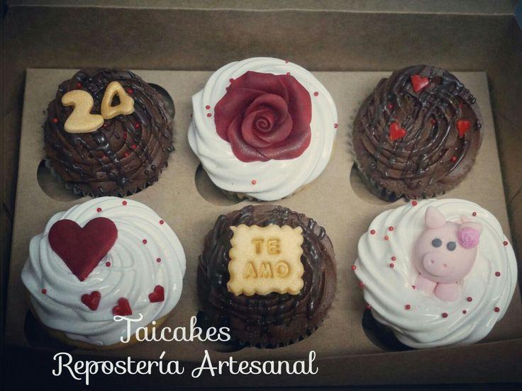 Cupcakes de chocolate y vainilla  Regalo  Taicakes.cl  https://www.facebook.com/Taicakes.cupcakes/