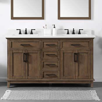 Ove Decors Dylan 60 Bath Vanity Double Vanity Bathroom Wood Bathroom Vanity Bathroom Vanity Vanity 60 inch double sink