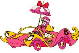 El Compact Pussycat, conducido por Penélope Glamour - Los autos locos.