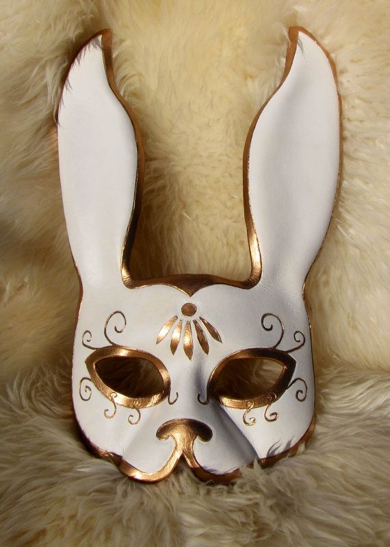 Leather Splicer inspired Rabbit Mask by BeZiArtfulDesigns on Etsy