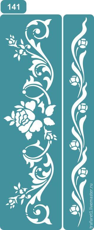 Compre Stencil 140, 141 - verde, estêncil, estêncil reutilizáveis, estêncil para decoupage, estêncil para a decoração