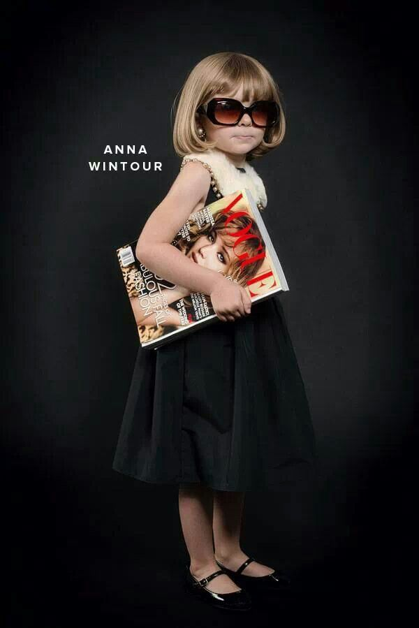 Anna Wintour toddler. Genius.