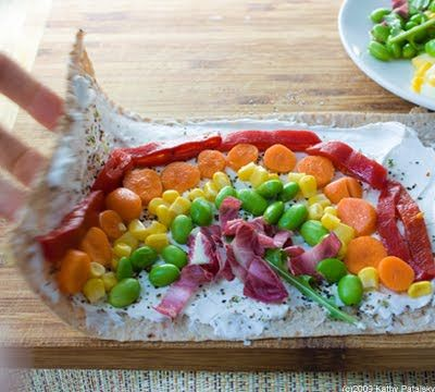 Veggie Rainbow Wraps: Healthy Kid-Friendly Recipe.