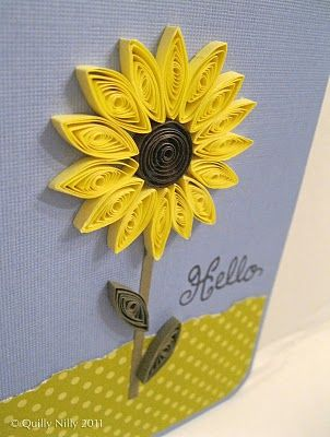 quilled sunflower card