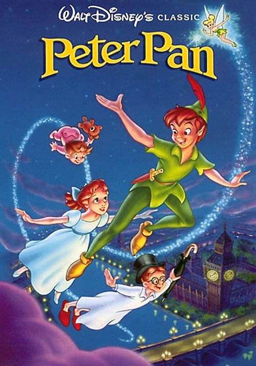 Peter Pan (1953) - The three children of the Darling family receive a visit from Peter Pan, who takes them to Never Land, where an ongoing war between Peter's gang of rag-tag runaways and the evil Pirate Captain Hook is taking place.