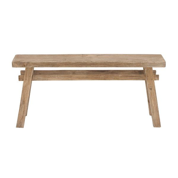 Farmhouse Wooden Bench Pale Natural Wood Distressed Finish Rectangular Wooden Bench Made Of West Indian Mahogany With Horizo Bench Decor Wood Bench Furniture
