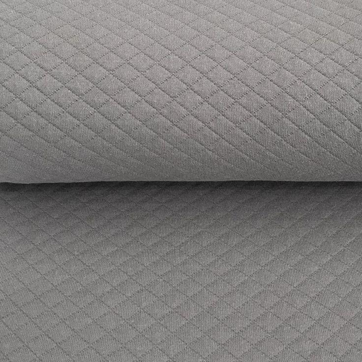 Teplákovina prošívaná light grey