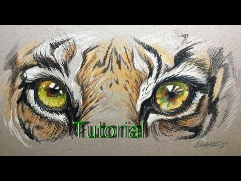 How to draw Tiger Eyes - realtime - YouTube