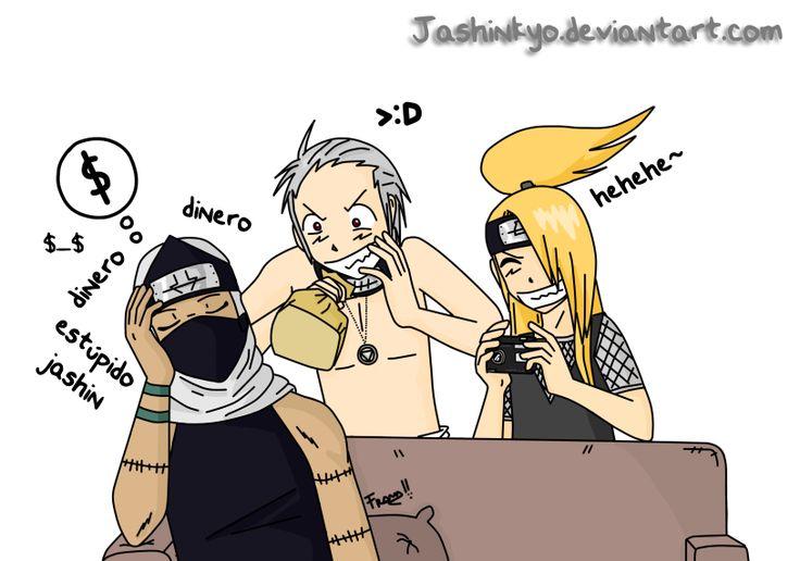 Okay, Deidara, take the pic then run like hell!! Hidan