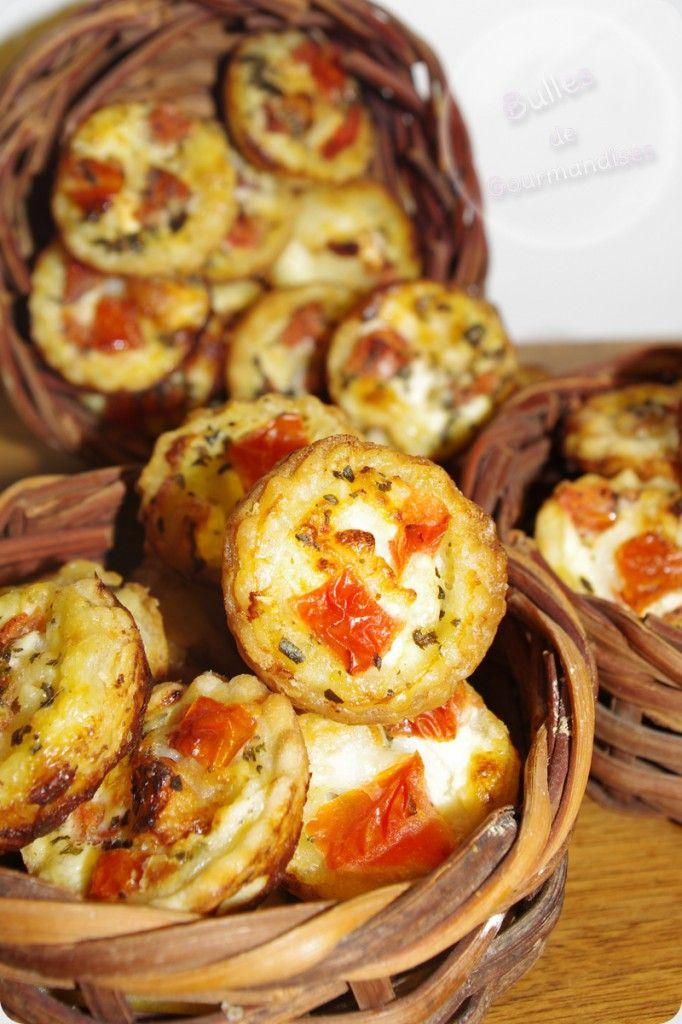 Mini Quiche chèvre, tomates, basilic