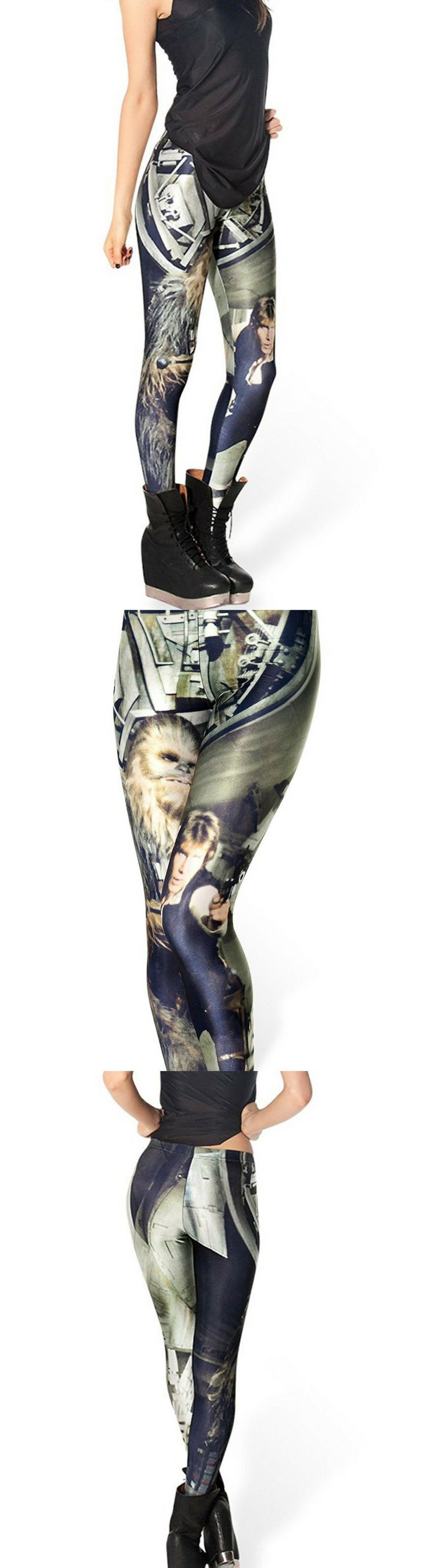 Like peanut butter and jelly, some pairs were just meant to go together, like Han Solo and his Wookie sidekick Chewbacca. #starwars #leggings #chewbacca
