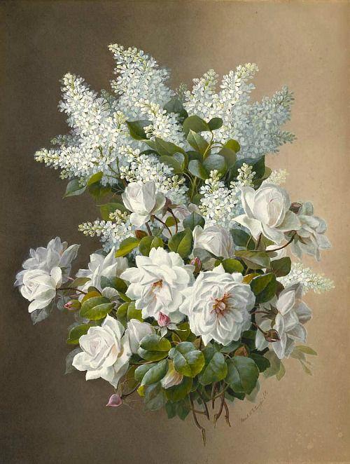Raoul de Longpre  Lilacs and Roses
