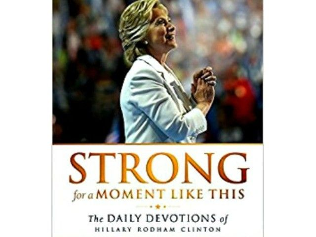 Nauseating.    The photo on the book's cover shows Hillary Rodham Clinton with hands in prayer position. Inside are 365 daily devotions written by men of the cloth.