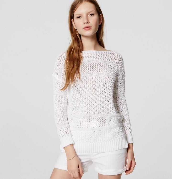 Textured Stripe Sweater | Loft