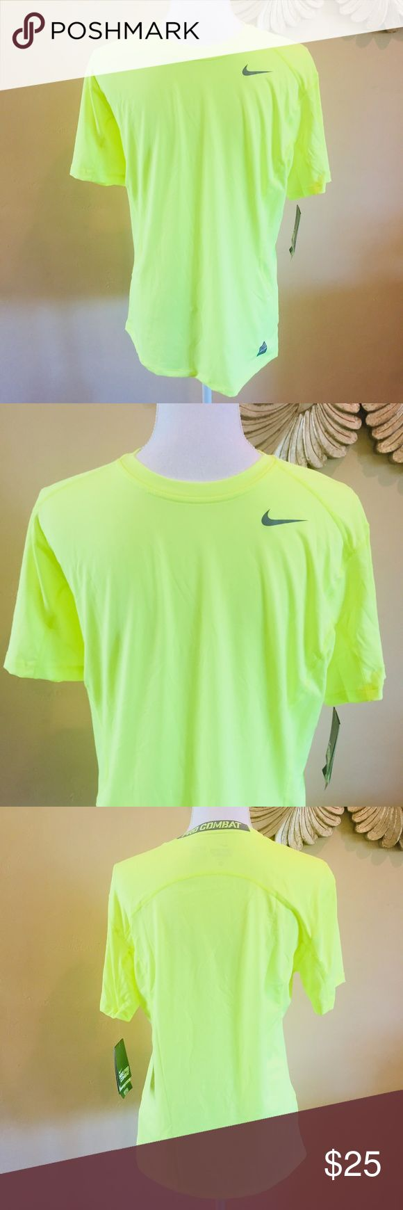 Men's Nike Pro Combat Compression Base Layer Shirt Men's Nike Pro Combat Compression Base Layer Fitted S/S Shirt  Yellow  Size Medium New with tags Nike Shirts Tees - Short Sleeve