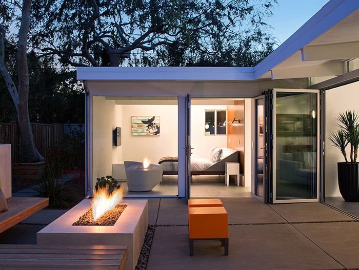 Klopf Architecture remodeled a classic house in Silicon Valley for a Californian indoor-outdoor lifestyle