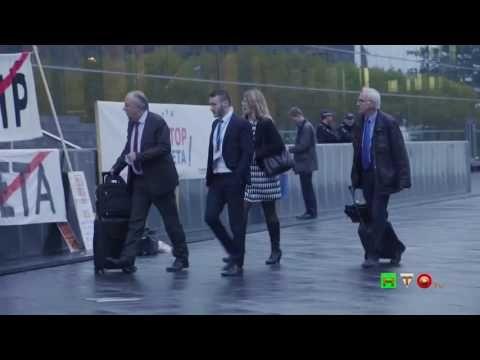 GREENPEACE in azione durante il Consiglio dei Ministri della UE: «Il CET...