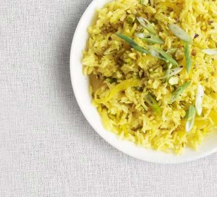Pistachio pilau rice - will try this instead of plain basmati for my next curry.