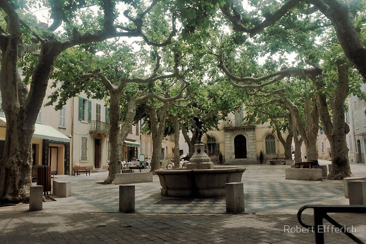 La Collobrières in the south of France.Market place. • Buy this artwork on apparel, stickers, phone cases, and more.
