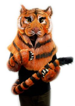 Shere khan jungle book tiger  costume head and tail, custom made by Tentacle Studio.