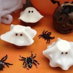 "Cupcake ""fantôme"" pour Halloween"